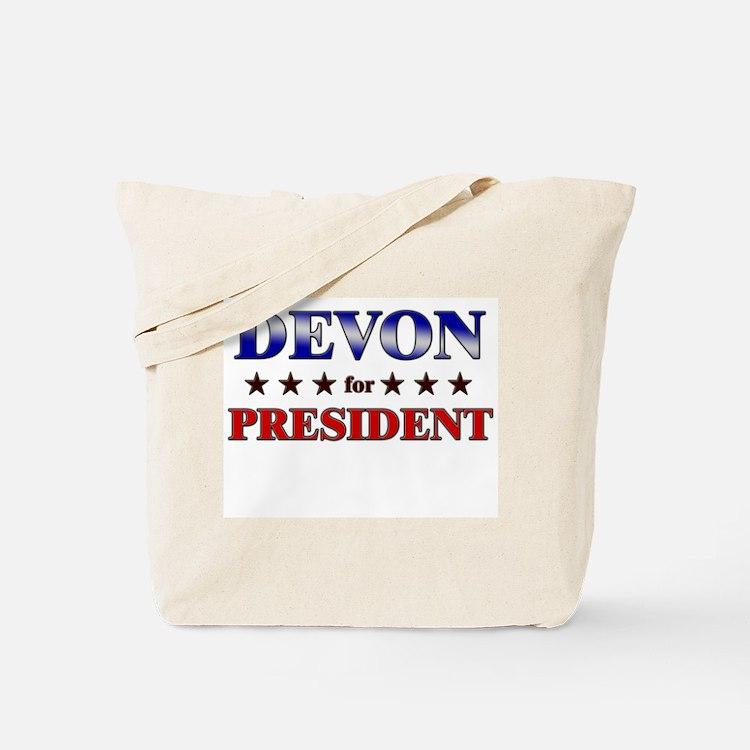 DEVON for president Tote Bag