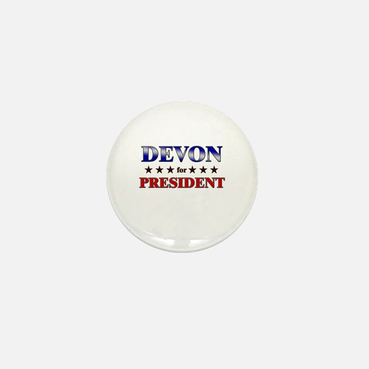 DEVON for president Mini Button
