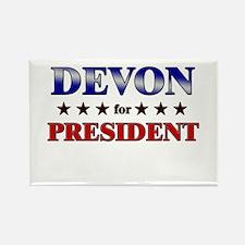 DEVON for president Rectangle Magnet