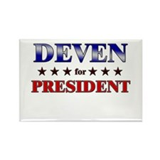 DEVEN for president Rectangle Magnet
