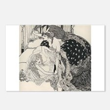 Spanking art Postcards (Package of 8)