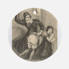 Spanking art Round Ornament