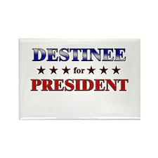 DESTINEE for president Rectangle Magnet