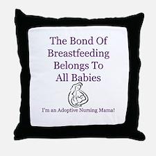 Adoptive Nursing Advocacy Throw Pillow