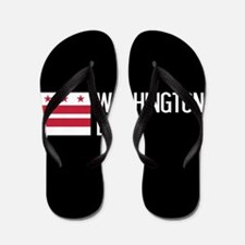 Washington D.C.: Washington D.C. Flag Flip Flops