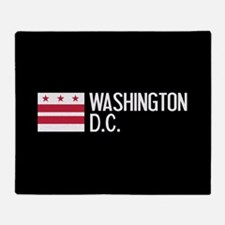 Washington D.C.: Washington D.C. Fla Throw Blanket