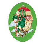 Masonic Crescent Santa Oval Ornament