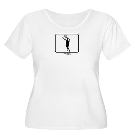 Womens Tennis (white) Women's Plus Size Scoop Neck
