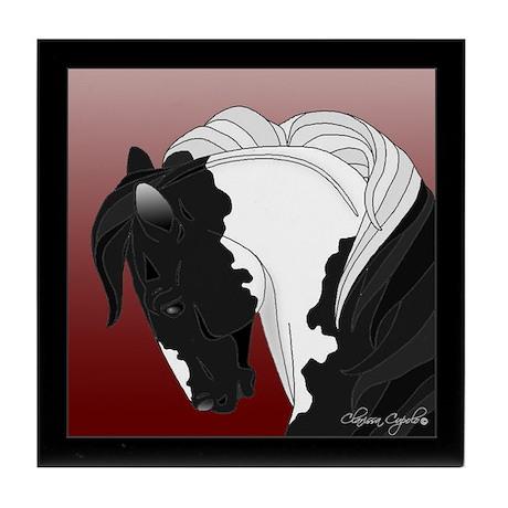 Gypsy Vanner Horse (#8) Produ Tile Coaster