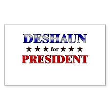 DESHAUN for president Rectangle Decal