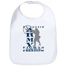 Cousin Fights Freedom - ARMY  Bib