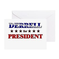 DERRELL for president Greeting Card