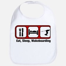 Eat, Sleep, Wakeboarding Bib