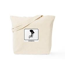 Swimming (white) Tote Bag