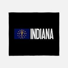 Indiana: Hoosier Flag & Indiana Throw Blanket