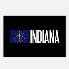 Indiana: Hoosier Flag & I Postcards (Package of 8)