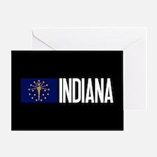 Indiana: Hoosier Flag & Indiana Greeting Card