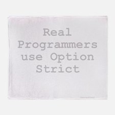 RealProgrammersOptionStrict.png Throw Blanket