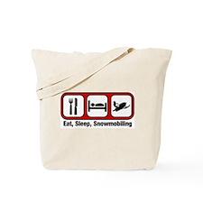 Eat, Sleep, Snowmobiling Tote Bag
