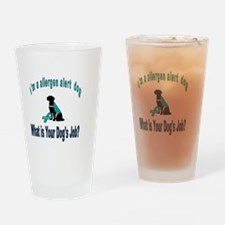 Cute Allergy awareness Drinking Glass