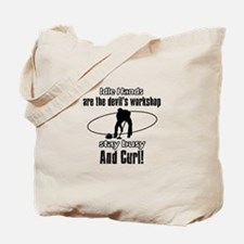 Stay Busy Curl Tote Bag