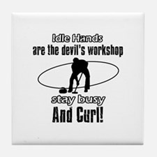 Stay Busy Curl Tile Coaster