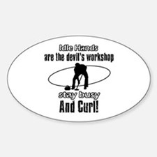 Stay Busy Curl Sticker (Oval)
