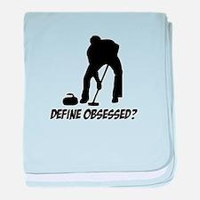 Curling Define Obsessed baby blanket