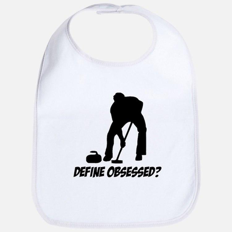 Curling Define Obsessed Bib