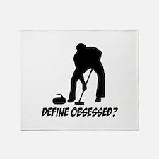 Curling Define Obsessed Throw Blanket