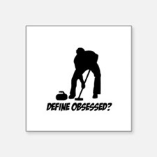 "Curling Define Obsessed Square Sticker 3"" x 3"""