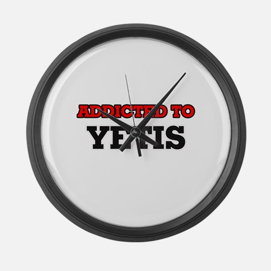 Addicted to Yetis Large Wall Clock