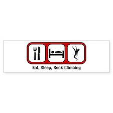 Eat, Sleep, Rock Climbing Bumper Bumper Sticker