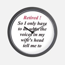 Retiring Men Wall Clock