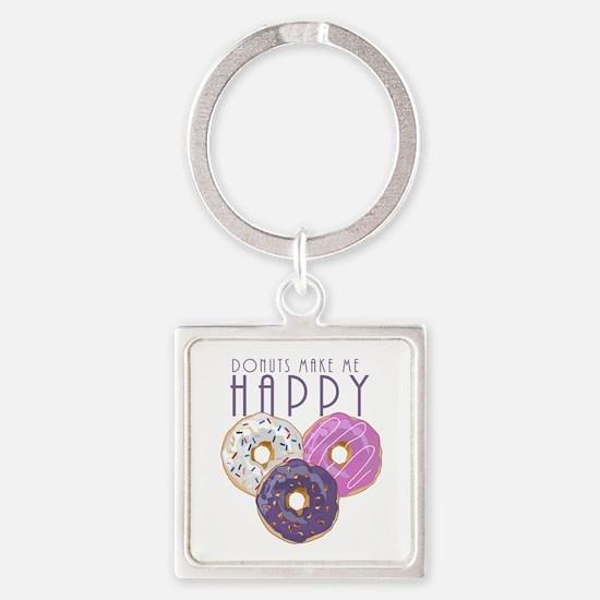Donuts Make Me Happy Keychains