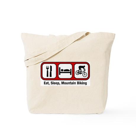 Eat, Sleep, Mountain Biking Tote Bag