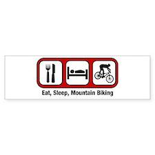 Eat, Sleep, Mountain Biking Bumper Car Sticker