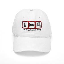 Eat, Sleep, Mountain Biking Baseball Cap