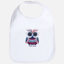 Patriotic Owl Bib