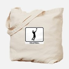 Mens Volleyball (white) Tote Bag