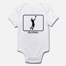 Mens Volleyball (white) Infant Bodysuit
