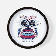 Patriotic Owl Wall Clock