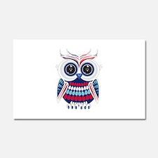 Patriotic Owl Car Magnet 20 x 12