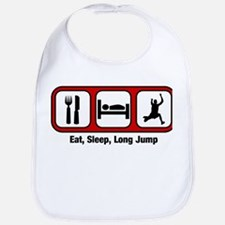 Eat, Sleep, Long Jump Bib