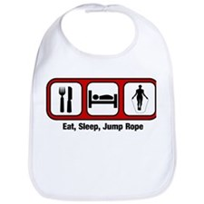 Eat, Sleep, Jump Rope Bib
