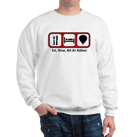 Eat, Sleep, Hot Air Balloon Sweatshirt