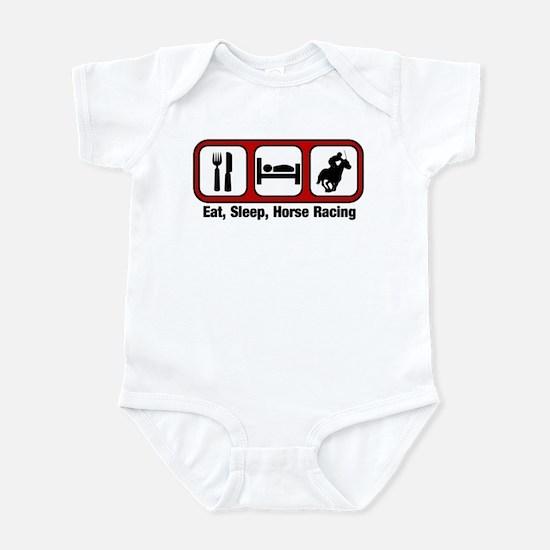 Eat, Sleep, Horse Racing Infant Bodysuit