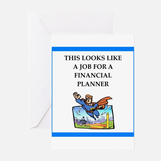 finanancial planner Greeting Cards