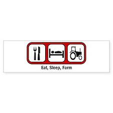 Eat, Sleep, Farmer Bumper Bumper Sticker