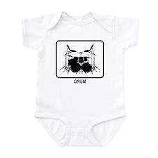Drum (white) Infant Bodysuit